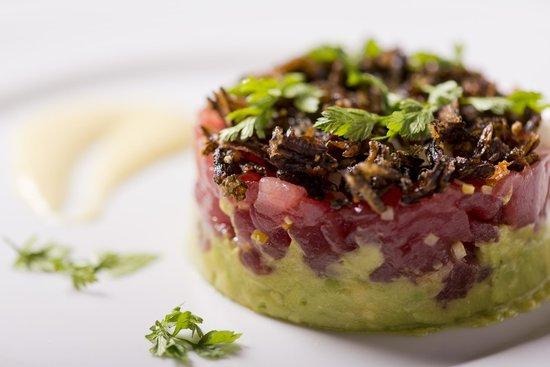 Market by Jean-Georges: Tuna tartare with Avocado, Fennel Mignonette and Crispy Wild Rice