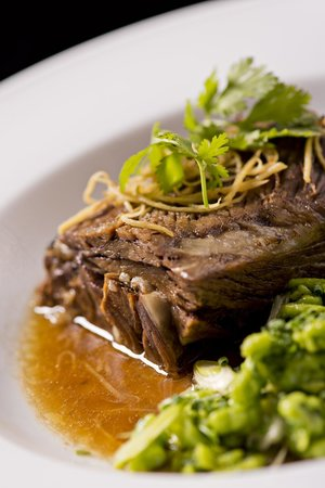Market by Jean-Georges : Ginger Braised Short Ribs with Chive Spaetzle and Cilantro