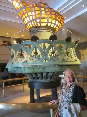 Statue Cruises: Original flame in the pedestal museum