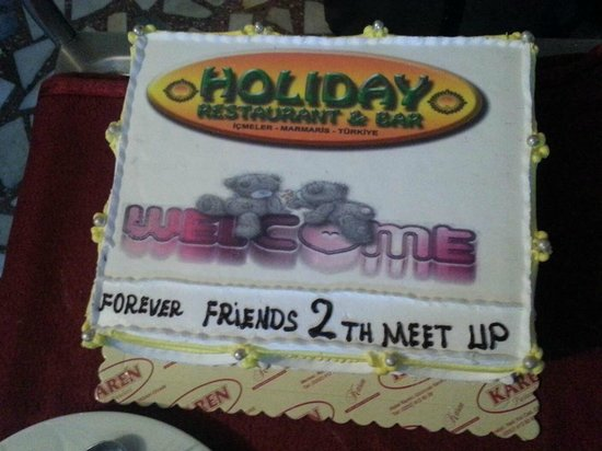 Holiday Restaurant: Meet up cake