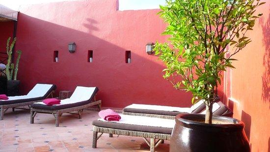 Riad Argan: Terraza