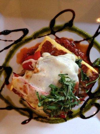 The Morning Glory Cafe: Vegetable Napoleon on polenta