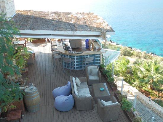Deniz Feneri Lighthouse: Terrace bar from above