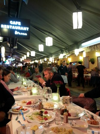 Faros Old City: Outside dining at the Faros Hotel Sultanahmet