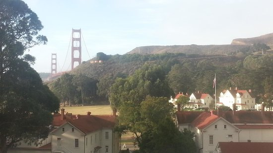 Cavallo Point: View of Golden Gate from newer rooms.