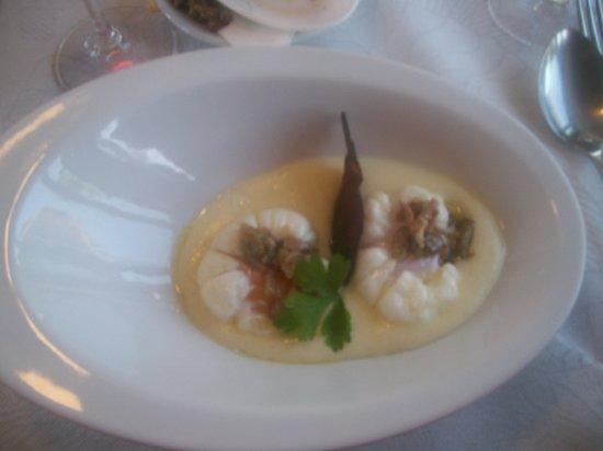 Sabores Restaurant : Oeufs mollets et velouté de pomme de terre