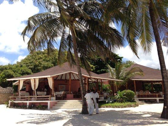 La Rosada: Rosada main house as seen from the table at the beach.