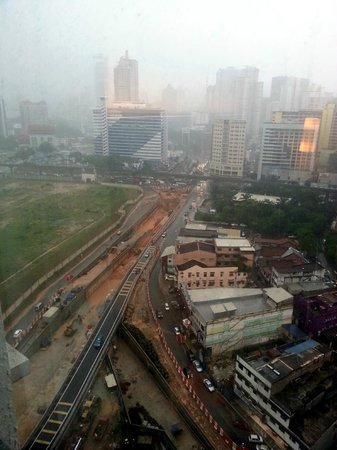 Furama Bukit Bintang: The view of the road from the 21st floor