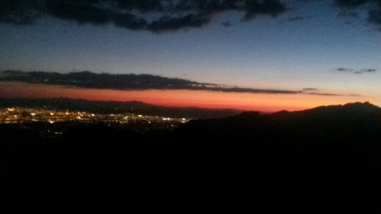 Mt. Lemmon Scenic Byway: Sunset over Tucson