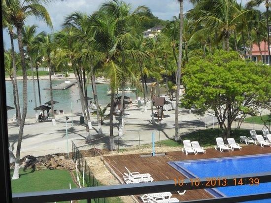 Hotel Fleur d'Epee: la plage depuis la chambre