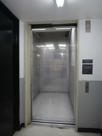 Plaza of the Americas: Service elevator south tower