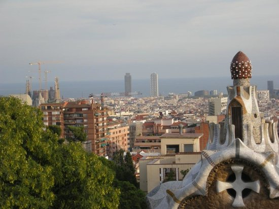 Hotel Continental Barcelona: View for Park Guell