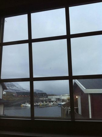 Hotel Framtid: View form room. Tried to make this interesting by not showing the Staff car park under the windo
