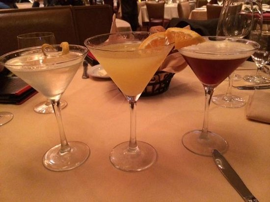 Rothmann's Steakhouse - NYC : Giner pear martini, blood orange and sidecar