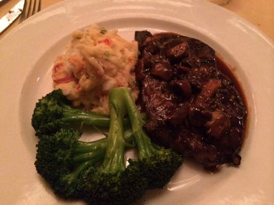 Rothmann's Steakhouse - NYC : Boneless Ribeye special with lobster mash yum!