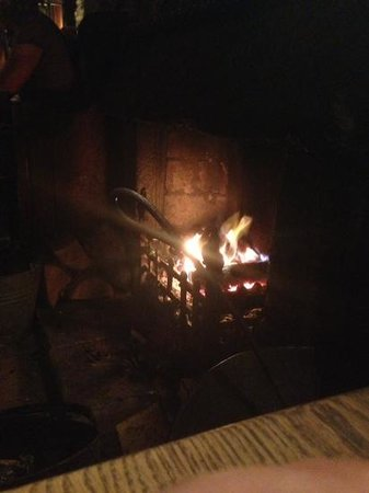 The George: welcoming open fire