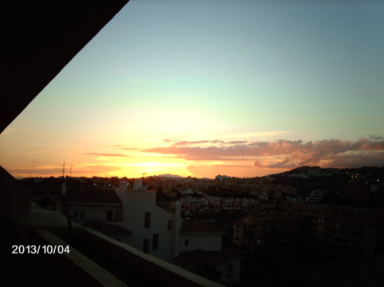 Royal Golf Riviera: sunset from the balcony