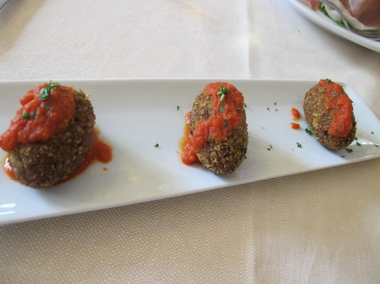 Trattoria Da Cesare : Eggplant croquettes