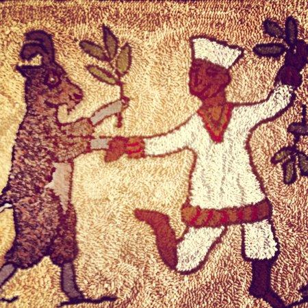 Dancing Goat Cafe & Bakery : Pulled rug at Dancing Goat cafe