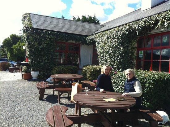 The Red Fox Inn: Enjoying an Irish coffee