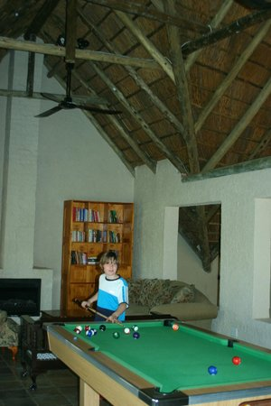Mokolodi House: Tomi en la sala de juegos