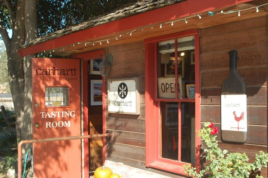 Carhartt Vineyards Tasting Room at the north end of Grand Avenue in Los Olivos.