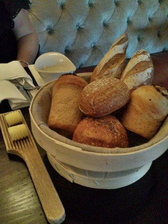 The Brown Bear: Bread basket served with dinner