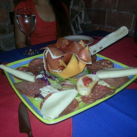 Trattoria Da Pino: Prosciutto and Mozzarella
