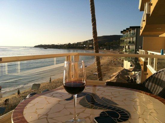 Pacific Edge Hotel on Laguna Beach: This is a view from my balcony