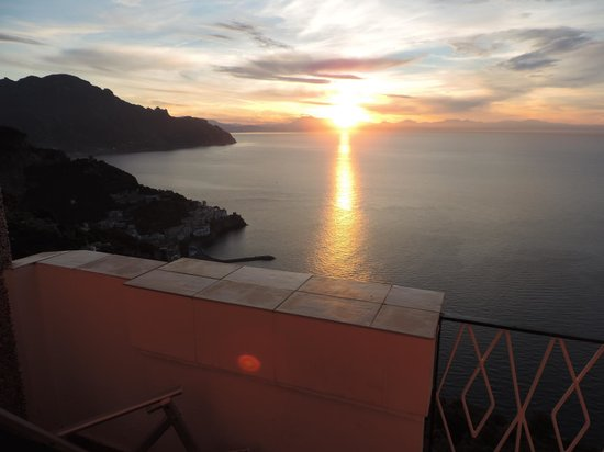 Excelsior Grand Hotel: Sunrise from our balcony
