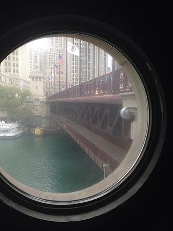 The McCormick Bridgehouse & Chicago River Museum: view from inside the museum