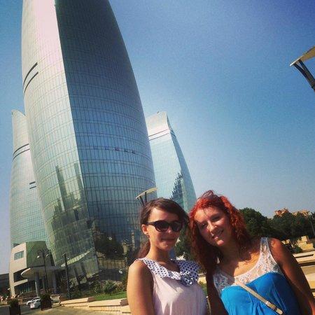 Baku, Azerbaijan: Башни Пламени
