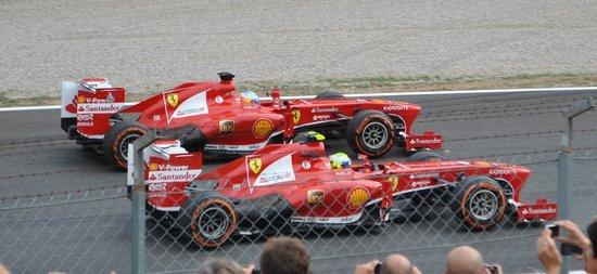 Autodromo Nazionale Monza : le due rosse