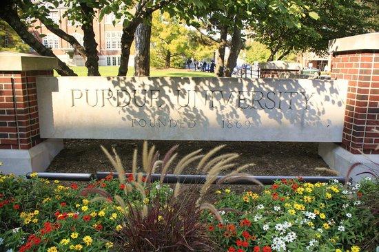Purdue University: Purdue sign by Union
