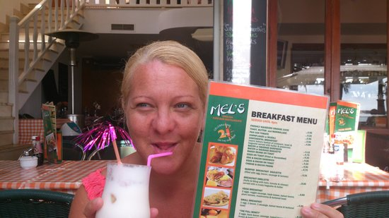 Mel's English Bar: Pina Colada Breakfast Shake