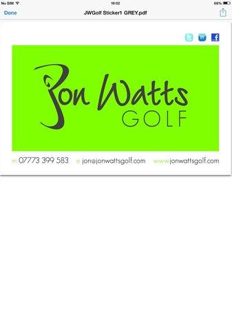 Jon Watts Golf: Contact details