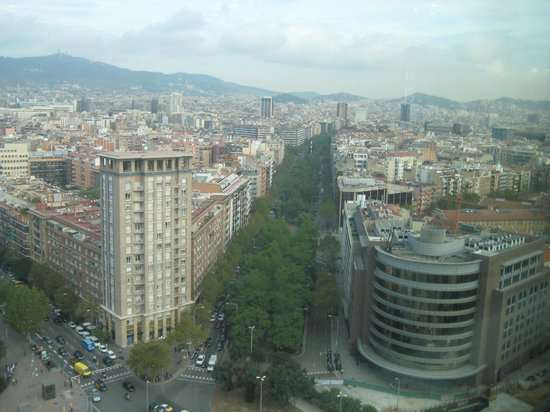 Gran Hotel Torre Catalunya: View from Visual restaurant