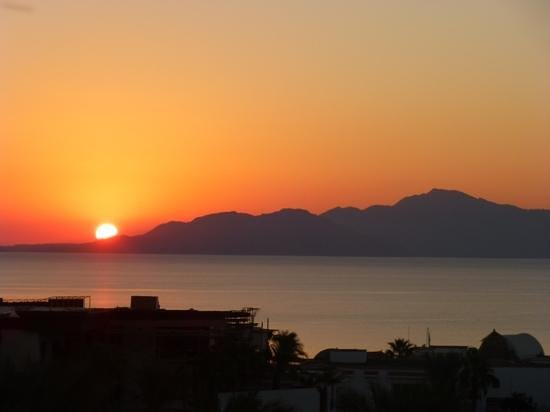 Savoy Sharm El Sheikh: sunrise over Tirana Island Oct 2013