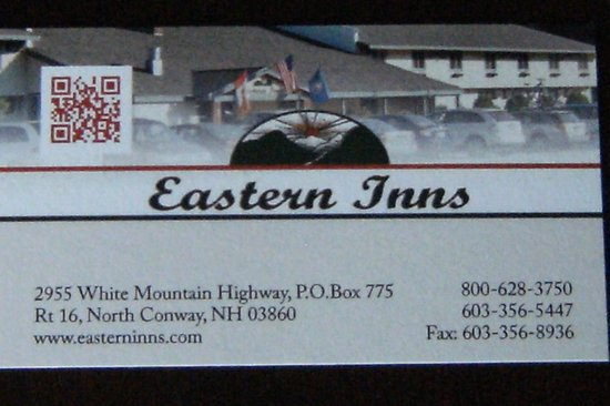 Eastern Inn & Suites: business card