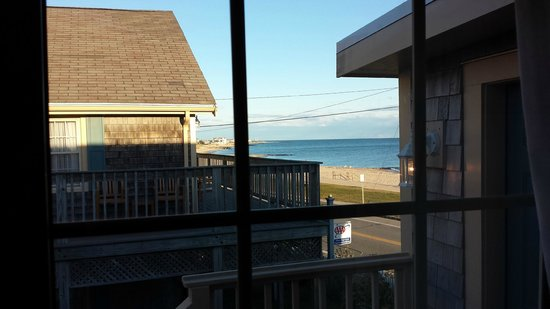 The Seaside Inn : view of coast/beach from room in October