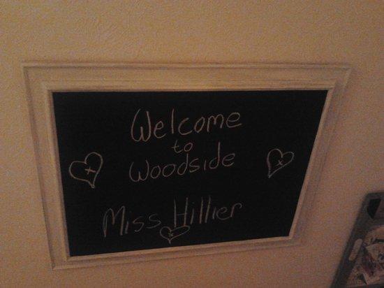 Woodside Bed & Breakfast: Lovely Welcome