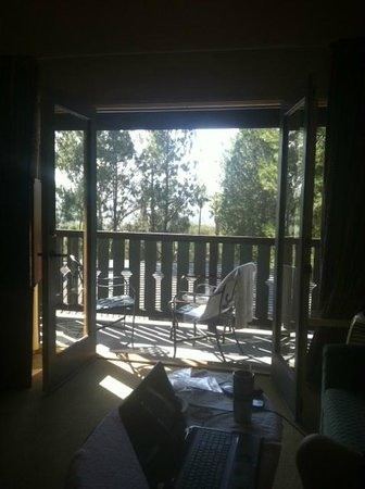 Tuscany Hills Resort : From inside our room with the french doors open to the balcony