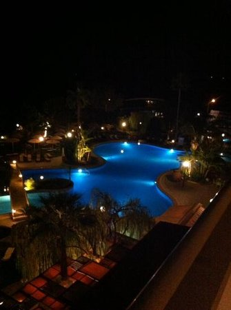 Atlantica Bay Hotel: the pool at night