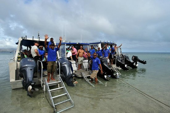 Volivoli Beach Resort Fiji: Dive and Fishing Boats