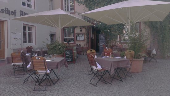 Bad Sackingen, Германия: Ruhige Terrasse