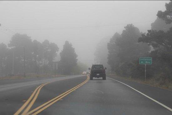 Mendocino Coast: Typical Shoreline Highway conditions we encountered