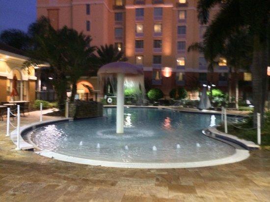 Hilton Garden Inn Lake Buena Vista/Orlando: Pool area (Homewood in background)