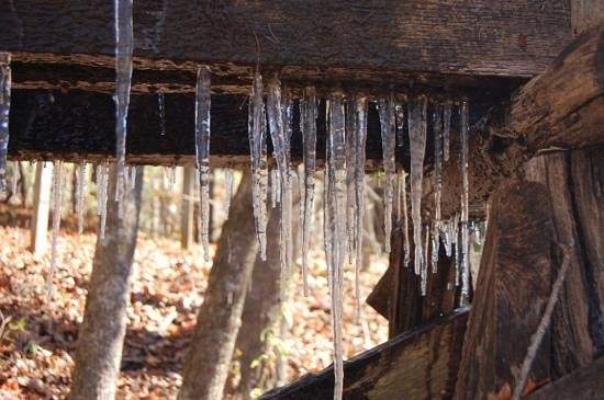 Mabry Mill: Icicles!