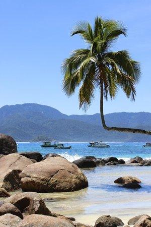 Vila Pedra Mar: Nearby praia Aventureiro (full day excursion, 1hr boat-ride)