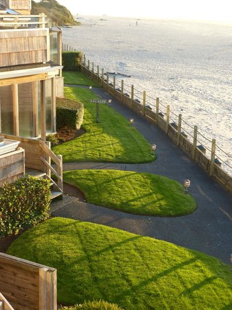 The Waves: view of the grounds from our balcony